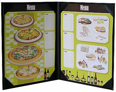 "8"" 1/2 X 11"" Inches, Double View Menu Cover Sold By Case Packed of 5 Pcs"