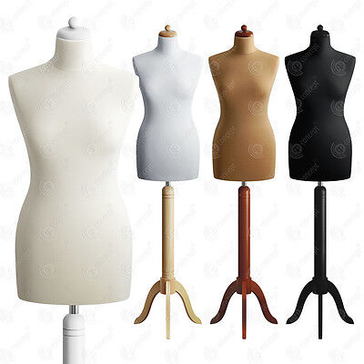 SIZE 10 FEMALE Mannequin Bust Tailors Dressmakers Dummy Fashion Torso S01