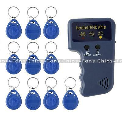 New Handheld 125KHz RFID Copier/Writer/Readers/Duplicator With 10PCS ID Tags