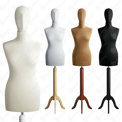 SIZE 8 FEMALE Mannequin with Head Tailors Bust Dressmakers Dummy Torso S01