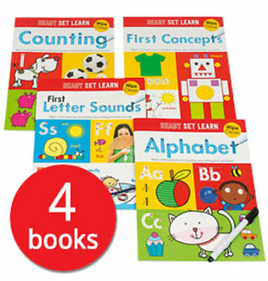Ready Set Learn: Wipe Clean Collection - 4 Books
