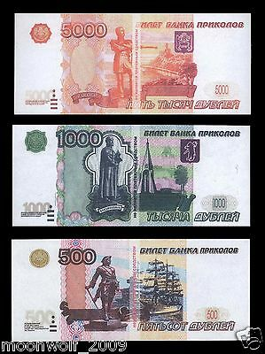 RUSSIAN FAKE MONEY 3 nominal in one set !