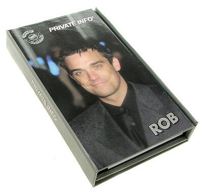 ROBBIE WILLIAMS PERSONAL ORGANISER - Diary, Address Book, Note Book & Pencil