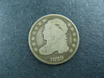 10 cents 1829 large 10 C. silver US coin Capped Bust Dime USA 10c