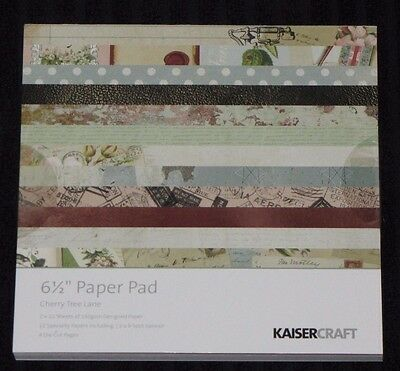 "Kaisercraft 'CHERRY TREE LANE' 6.5"" Paper Pad Vintage/Floral/Flowers KAISER"