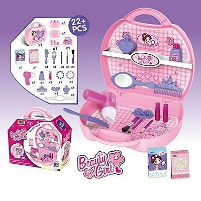 Little Princess Make Up Dressing Desk Beauty Girls Play Set 22 Pcs