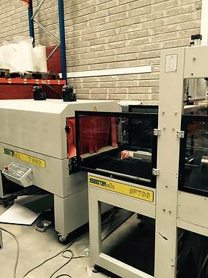 smipack bp700 sleeve wrapper / shrink wrapper with t650 heat tunnel