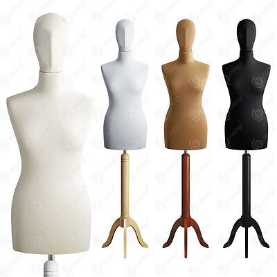 SIZE 10 FEMALE Mannequin with Head Tailors Bust Dressmakers Dummy Torso S01