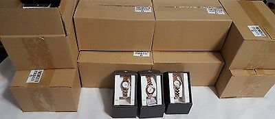 New As Is Wholesale Lot Of 48 Womens Mossimo Wristwatches Rose Gold Analog Watch