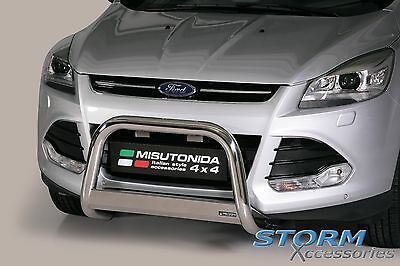 Ford KUGA 2013> MACH EC Approved Stainless Steel Front A-Bar, Bull Bar - 63mm