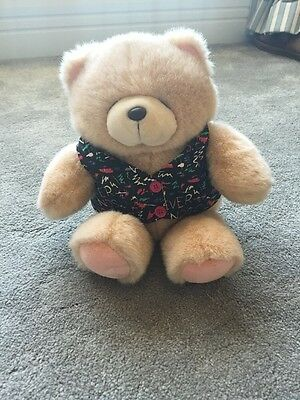 FOREVER FRIENDS CUDDLY BEAR WEARING FOREVER FRIENDS WAISTCOAT Excellent Cond