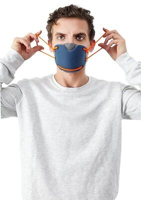 Banale Anti-Pollution Half Face Mask - Replaceable filter and washable cover.
