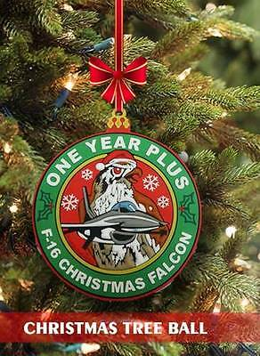 F-16 Limited Edition Christmas New Year 2017  Swirl 3D Pvc Patch