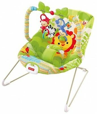 Fisher-Price Rainforest Friends Baby Bouncer Bouncing Vibrating Chair Seat