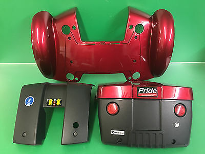 Plastic Body Cover Shroud for Pride Jazzy 614 HD Power Wheelchair -RED-   #5208