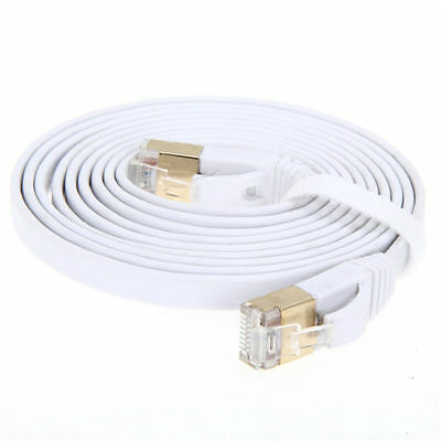Gold Plated CAT7 CAT7 10Gbps Ultra-Thin Flat Ethernet Network LAN Patch Cable