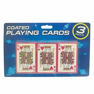 Royal Professional Plastic Coated Poker Size Playing Cards 3 Deck Set
