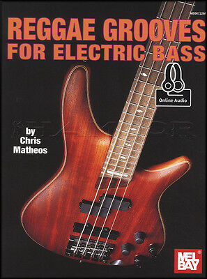Reggae Grooves for Electric Bass Guitar TAB Music Book with Audio Learn To Play