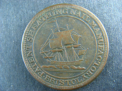 Withers 471a N Halfpenny token 1811 Bristol London UK GB Great Britain England