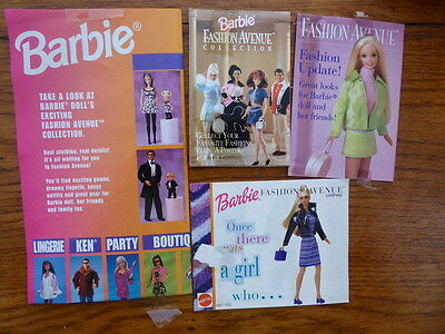 Catalogues lot  barbie fashion avenue (pas vintage)