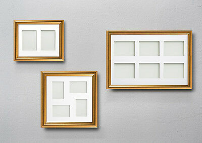 Multi Aperture Opening Collage Eldridge Gold Picture Photo Frames With Mount