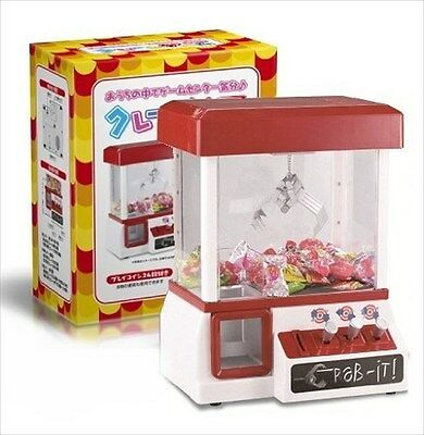 New Japanese package/Manual Mini UFO Catcher Crane Game Machine No Battery JAPAN