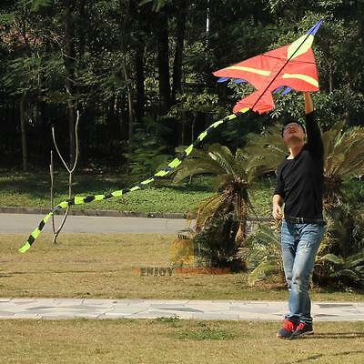 Kids Flying Kite Small Fighter Airplane Kites Children Toy Outdoor Sports Red