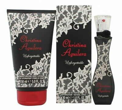 Christina Aguilera Unforgettable Gift Set 30Ml Edp + 150Ml Body Lotion. New