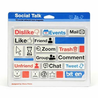 Gift House International 18 Social Network Icon and Emoticon Fridge Magnets