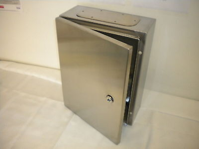 Cgd Stainless Steel Electrical Control Panel Enclosure Lockable Hinged Backplate
