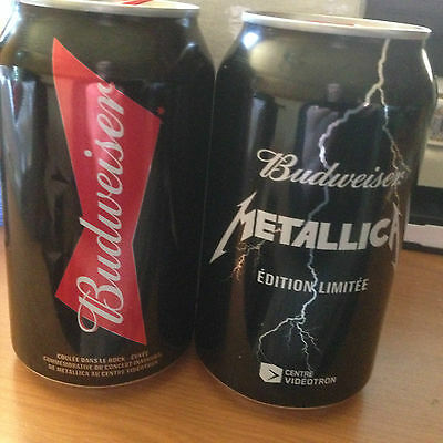 Metallica Budweiser beer collectible limited edition EMPTY