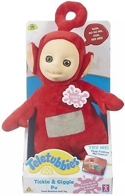 Teletubbies - Tickle and Giggle Po Soft Toy  *BRAND NEW*