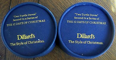 """Two Turtle Doves"" Dillard's The Style of Christmas Ornaments 2008"
