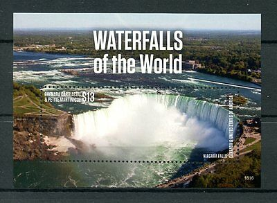 Grenadines of Grenada 2016 MNH Waterfalls of World Niagara Falls 1v S/S Stamps
