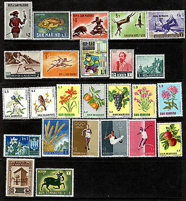 San Marino Small Collection of 25 Mint Pictorial Stamps