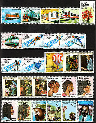 Guinea Bissau Pictorial Issues Nice Collection of 100 Used Stamps