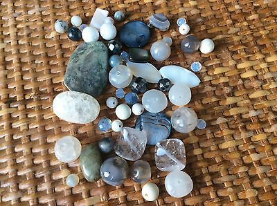 LOOSE GEMSTONE BEADS AND CRYSTAL STONES 75g - CHEAPEST ON EBAY