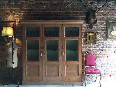 Beautiful Antique Pine Bookcase Display Cabinet Vitrine Victorian 19th Century