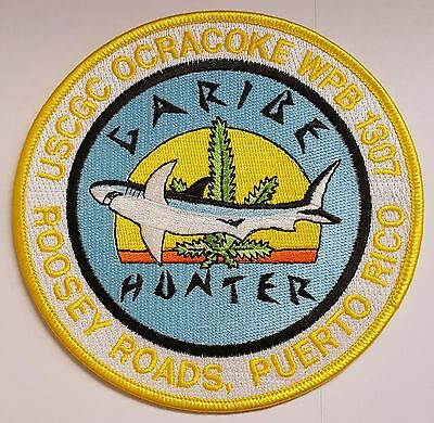 USCG US Coast Guard Ocracoke WPB 1307 Roosey Rds Puerto Rico Drug Cloth Patch