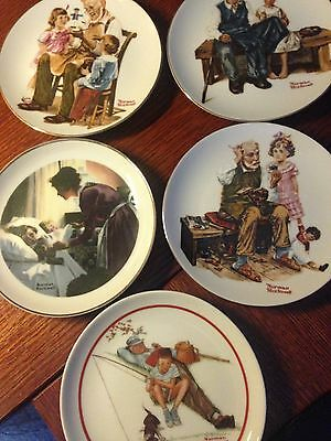 Norman Rockwell Collectible Plates;  Lot of 5; PRICE REDUCED