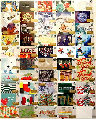 49 Card Starbucks gift card SERIE USA DEZEMBER 2016 + 1Extra card alle DIFFERENT
