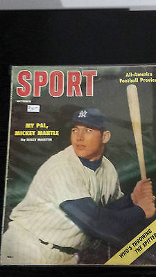 October 1956 Sport Magazine – My Pal, Mickey Mantle by Billy Martin