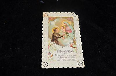 """OLD nice german rare LACE Holycards from 1900""""H7720"""" holy stanislow kostka"""