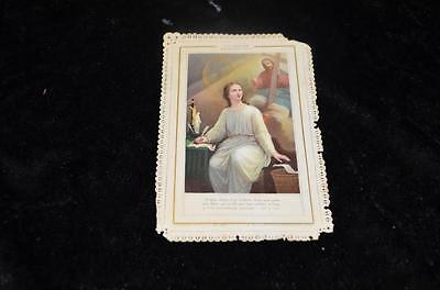 """OLD nice german rare LACE Holycards from 1900""""H7722"""" holy la fidelite"""