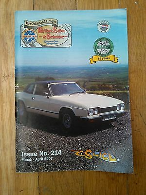 Reliant Sabre & Scimitar Owners Club Magazine  FREE P&P!