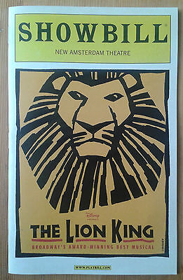 The Lion King Broadway Playbill Showbill New Amsterdam Theatre September 2004