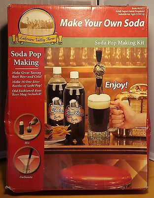 Lakeview Valley Farms Make Your Own Soda - Soda Pop Making Kit - NEW