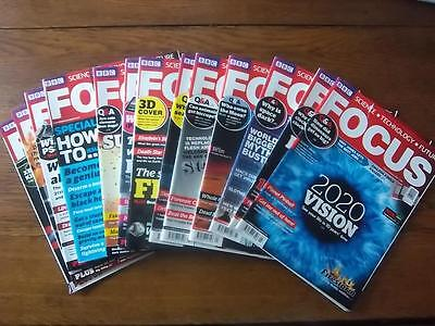 BBC Focus Magazines Collection of 2010 - 13 issues