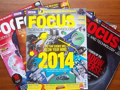 BBC Focus Magazines Collection of 2014 6 issues jan to june