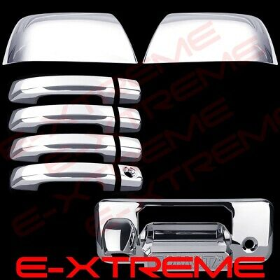 Fit Chrome Cover Toyota TUNDRA CREWMAX 2014-18 2 Mirror+4 Door Handle+1 Tailgate